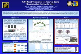 Path-Based Constraints for Accurate Scene Reconstruction from Aerial Video