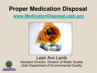 Proper Medication Disposal MedicationDisposal.utah