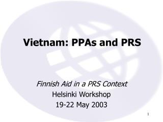 Vietnam: PPAs and PRS