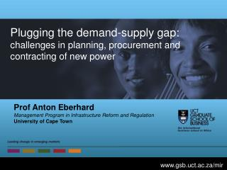 Plugging the demand-supply gap: challenges in planning, procurement and contracting of new power