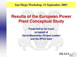 San Diego Workshop, 11 September 2003