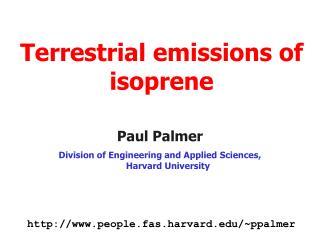 Terrestrial emissions of isoprene