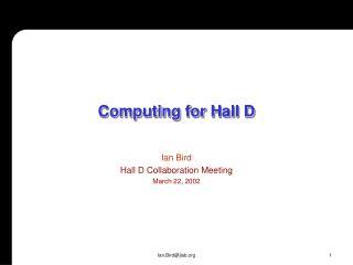 Computing for Hall D