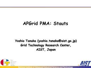 APGrid PMA: Stauts
