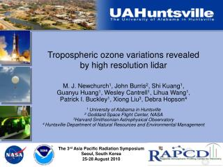 Tropospheric ozone variations revealed by high resolution lidar