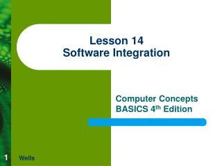 Lesson 14 Software Integration