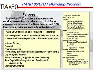 RAND 05/LTC Fellowship Program
