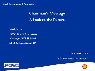 Chairman's Message A Look to the Future