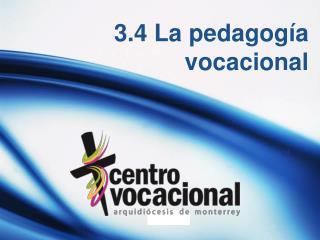 3.4 La pedagog�a vocacional