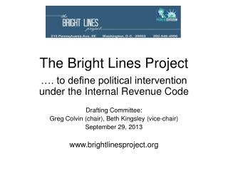 The Bright Lines Project