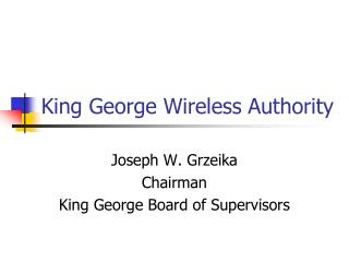 King George Wireless Authority