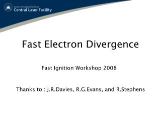 Fast Electron Divergence