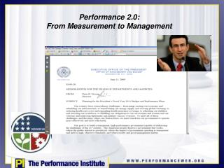 Performance 2.0:  From Measurement to Management