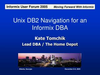 Unix DB2 Navigation for an Informix DBA