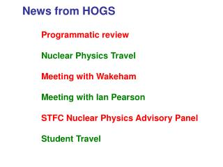 News from HOGS