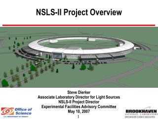 NSLS-II Project Overview