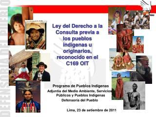 Programa de Pueblos Indígenas