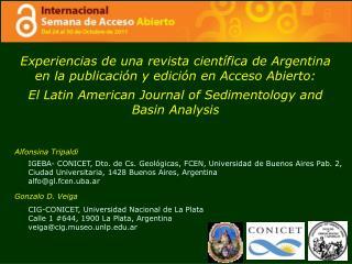 Experiencias de una revista científica de Argentina en la publicación y edición en Acceso Abierto: