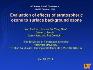 Evaluation of effects of stratospheric ozone to surface background ozone