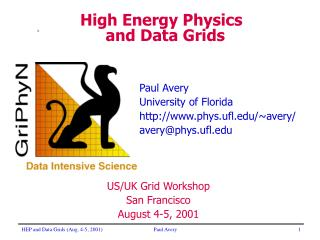 High Energy Physics and Data Grids