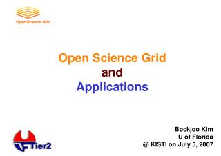 Open Science Grid and Applications