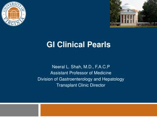 GI Clinical Pearls