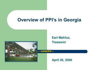 Overview of PPI's in Georgia