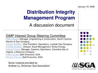 Distribution Integrity Management Program