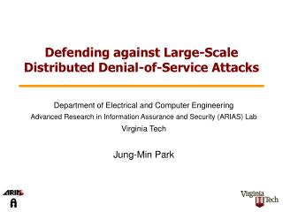 Defending against Large-Scale Distributed Denial-of-Service Attacks