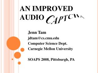 AN IMPROVED  AUDIO