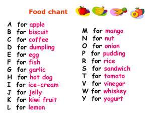 Food chant