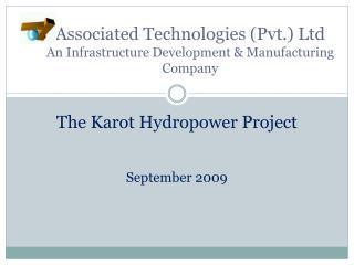 Associated Technologies (Pvt.) Ltd An Infrastructure Development & Manufacturing Company