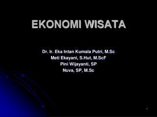 EKONOMI WISATA
