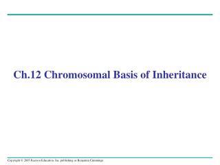 Ch.12 Chromosomal Basis of Inheritance