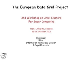 The European Data Grid Project