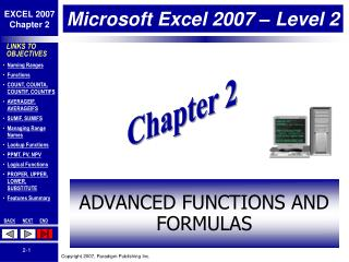 Microsoft Excel 2007 � Level 2