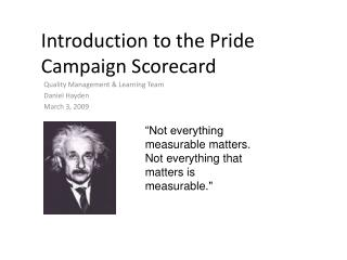 Introduction to the Pride Campaign Scorecard
