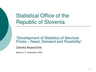 Statistical Office of the Republic of Slovenia