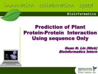 Guan N. Lin (Nick) Bioinformatics Intern