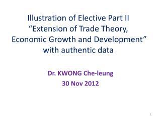 Dr. KWONG Che-leung 30 Nov 2012