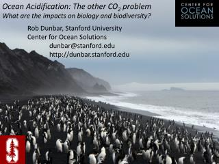 Ocean Acidification: The other CO 2  problem What are the impacts on biology and biodiversity?