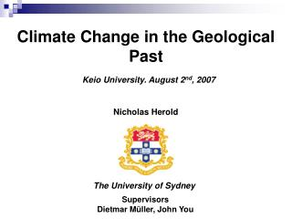 Climate Change in the Geological Past