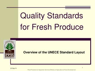 Quality Standards for Fresh Produce