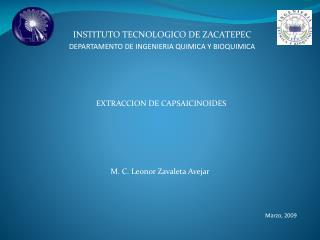 INSTITUTO TECNOLOGICO DE ZACATEPEC DEPARTAMENTO DE INGENIERIA QUIMICA Y BIOQUIMICA