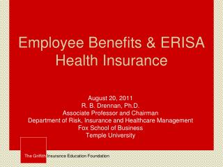 Employee Benefits & ERISA Health Insurance
