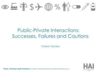 Public-Private Interactions: Successes, Failures and Cautions Colleen Daniels