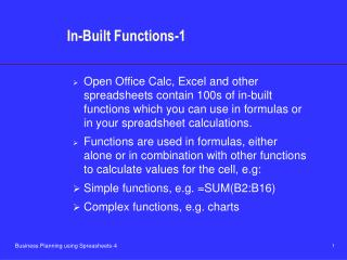 In-Built Functions-1
