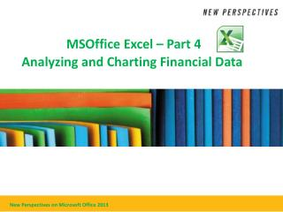 MSOffice Excel – Part 4 Analyzing and Charting Financial Data