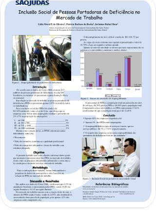 Inclusão Social de Pessoas Portadoras de Deficiência no Mercado de Trabalho