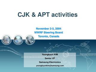 CJK & APT activities